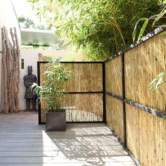 Install canisses: 5 ideas to decorate your terrace Whilst historical in principle, the pergola has Diy Pergola, Corner Pergola, Pergola Plans, Pergola Kits, Pergola Screens, Pergola Carport, Pergola Swing, Micro Garden, Roof Edge