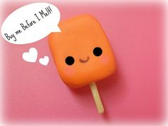 Creamsicle Polymer clay charm by planetadorables on Etsy, $4.00