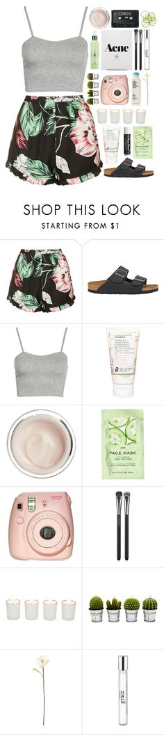 """""""//so what are you gonna do/when the world don't orbit around you//"""" by vanilla-chai-tea ❤ liked on Polyvore featuring Topshop, Birkenstock, Boohoo, Korres, Dr. Sebagh, H&M, MAC Cosmetics, Chapstick, Witchery and Billabong"""