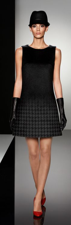 """Find out where DeVa wore this houndstooth, umbra Cinzia Rocca dress. Read """"BOB"""" at: ndnyurlife.com"""