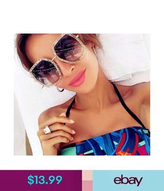 Hot Polygon Frame Retro Oversized Sunglasses Modern Women Fashion Shades  Ebay Fashion