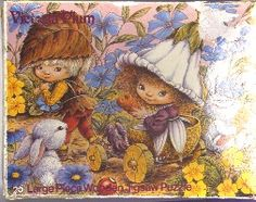 victoria plum | victoria plum 25 large wooden pieces jigsaw rabbits 1981 hestair ...