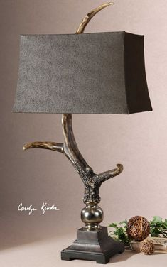 Stag Horn Lamp has a