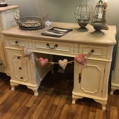 French Style Distressed Desk – Allissias Attic & Vintage French Style