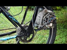 Electric Bike From Car Parts / Homemade E-bike / DIY - YouTube Electric Bike Motor, Electric Car, Go Kart Kits, 4 Wheel Bicycle, Eletric Bike, Custom Street Bikes, Bike Kit, Car Man Cave, Bicycle Design