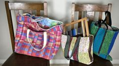Handwoven project bags.