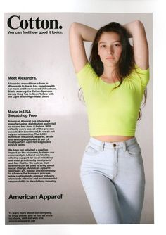 Cotton by #AmericanApparel #Cotton #advertisement
