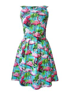 Flamingo Bird Dress Turquoise (for D's party)