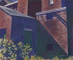 Charles Sheeler - The Mill, Andover, Massachusetts Andover Massachusetts, Charles Demuth, Industrial Paintings, Joseph Mallord William Turner, Art Things, American Art, Painters, Manchester, United States