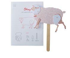 DIY Animal puppet sheep