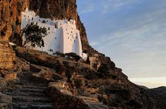 Amorgos Chozoviotissa The monastery is one of the most impressive of the Cyclades. See what else you can do on the island if you have at your disposal only two days!  # travel   # greece   # visitgreece   # amorgos   # summer 