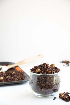 Healthy Chocolate Hazelnut Granola - A easy granola recipe that is gluten free, vegan and simply delicious