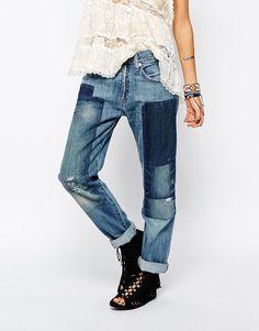 Image 1 of Denim & Supply By Ralph Lauren Patched Boyfriend Jeans