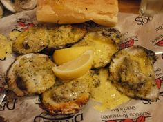 Drago's Seafood Restaurant's Chargrilled Oysters. New Orleans. My cousin Courtney  said we had to have these and she was right.