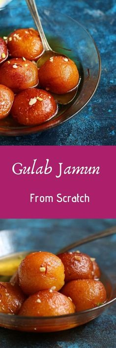 gulab jamun recipe with khoya with step by step photos. Learn how to make soft and tasty khoya gulab jamun with this easy recipe Real Food Recipes, Snack Recipes, Cooking Recipes, Yummy Food, Easy Recipes, Kulfi Recipe, Jamun Recipe, Indian Dessert Recipes, Indian Sweets