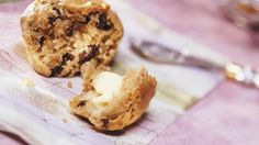 Breakfast on the go?  Try yummy banana muffins with cereal baked right in them.