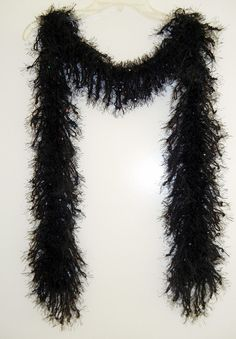Handmade Glamour Scarf Black with Sequins by MerlinDesigns on Etsy, $35.00