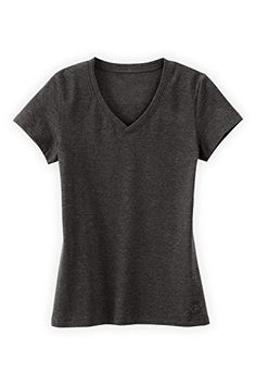 Fair Indigo Essential Organic Fair Trade VNeck Tshirt M Dark Charcoal Heather ** Click image for more details.