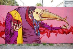 Street art : urban creations by Saner in Mexico : street-art pictures - Live! by FatCap
