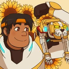 Hunk and Yellow Lion from Voltron Legendary Defender