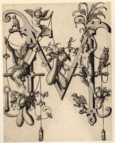 Alphabet de Théodore de Bry