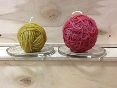 Yarn Ball Candles