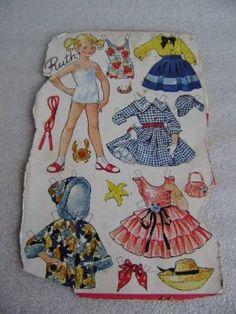 Påklædningsdukke på ark fra OTA - Ruth