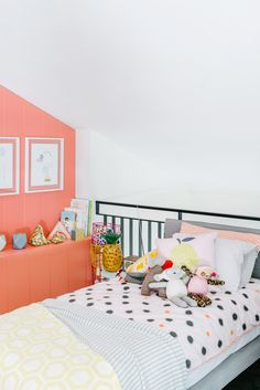 Patterns and a bright coral wall || The Design Files