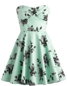 Vintage Rose Dress | Printed A-Line Dresses | Rickety Rack
