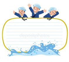 Banner o tarjeta con marineros felices — Ilustración de stock Banner, Family Guy, Guys, Illustration, Happy, Cards, Free, Fictional Characters, Sailor Cap