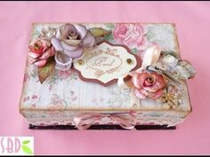 TUTORIAL - LEARN HOW TO MAKE THIS LOVELY KEEPSAKE JEWELRY BOX - Designs by Shellie - YouTube