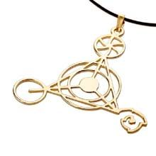 The shape of thepersonal creationpendant appeared in 1991 in Wessex, England. The geometrical shapes in the circles appear near the ancient structures of Stonehenge, Avebury & Salisbury Hill.  The Personal Creation pendant helps one to reconnect to the creative divine force within, & the cosmic language (sacred geometry). Size:4.0cm/4.0cm - 1.6Inch/1.6Inch Metal: Solid Gold 14k Yellow. Please click on the image to order. Price: $317