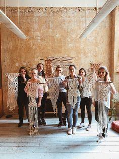 Makramee Wandhänger Workshop 13. OKTOBER | BERLIN Cotton Rope, Workshop, Diy Kits, Macrame, California, Fashion, October, Moda, Atelier