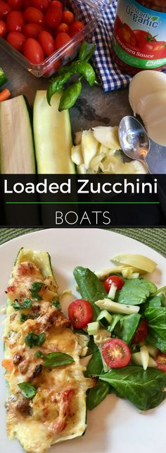 These low-carb zucchini boats are stuffed with veggies, cheese & sausage for a truly delicious dinner dish! Try this recipe today!   Clearly Organic Nutritionist Corner #organic #eatclean #nutritionist