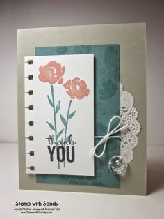 Stamp With Sandy: Painted Petals for The Paper Players