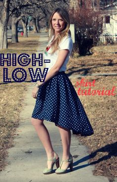 Summer trends say High-Low hemlines are in . Even if they don't say that exactly, high low skirts are fun to wear. Here is a take on this style by Crystal of Hey Coobabe. Click on High Low Flowy Skirt