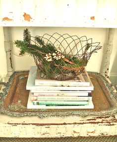 wire basket ~~ from ChiPPy! - SHaBBy!