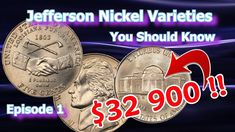 Jefferson Nickel Varieties and errors are excellent coins to look for and some of these nickels can be worth good money as well. In this series we'll be expl. Rare Coins Worth Money, Valuable Coins, Antique Coins, Old Coins, Penny Values, O Happy Day, Rare Pennies, Coin Worth, Error Coins