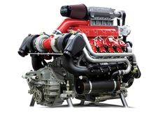 Twin turbo, supercharged duramax. 800hp at 4500 rpms.