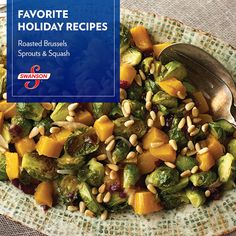 This colorful side will make a festive addition to any table. The sweetness from the cranberries and butternut squash perfectly complement the Brussels sprouts. Whole Food Recipes, Cooking Recipes, Healthy Recipes, Beef Recipes, Vegetable Dishes, Vegetable Recipes, Dinner Entrees, Dinner Recipes, Cranberry Recipes