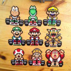 Super Mario Kart hama beads by yurekart