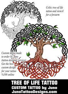 celtic tree of life tattoo, juno tattoo designs Celtic Tree Tattoos, Tree Tattoo Arm, Pine Tree Tattoo, Life Tattoos, New Tattoos, Tattoos For Guys, Tatoos, Scottish Tattoos, Create A Tattoo