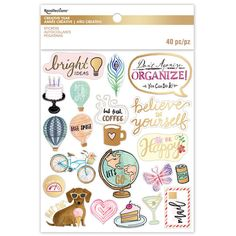 Creative Year Watercolor-Inspired Clear PVC Stickers By Recollections™