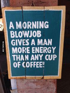 A morning blowjob...