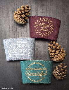DIY Coffee Sleeve Felt for Fall from MichaelsMakers Lia Griffith