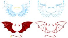 8511404-Angel-and-Devil-wings-illustration-Stock-Vector-cartoon.jpg (1300×739)