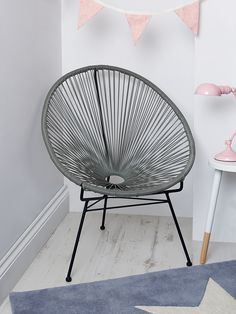 NEW Grey String Chair - NEW FOR AUTUMN - Indoor Living