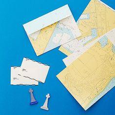 海上保安庁の海図をデザインしたレターセット