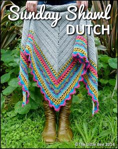 Sunday Shawl haakpatroon in het Nederlands by TheLittleBeeNZ