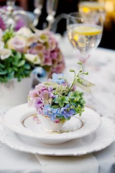 Teacup Place Card Holders | Flower Garden Party